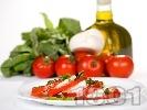 """Рецепта Салата """"Капрезе"""" с домати, моцарела и песто"""